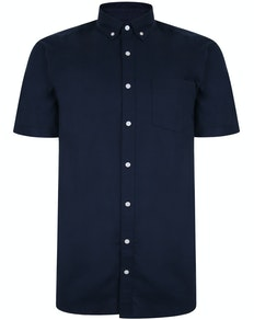 Bigdude Oxford Short Sleeve Shirt Navy