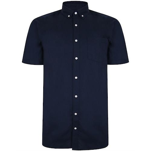 Bigdude Oxford Short Sleeve Shirt Navy