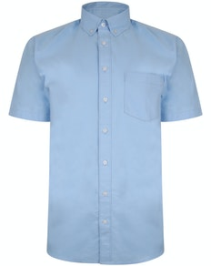 Bigdude Oxford Short Sleeve Shirt Light Blue