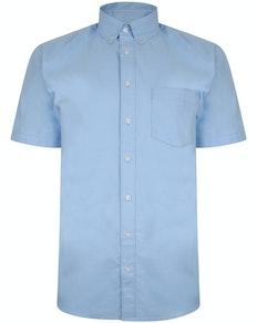 Bigdude Oxford Kurzarmhemd Hellblau