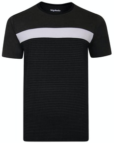 Bigdude Cut & Sew T-Shirt Schwarz/Weiß/Grau