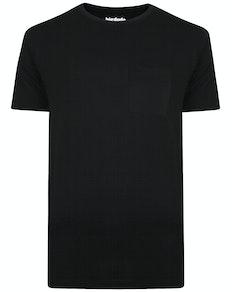 Bigdude T-Shirt mit Brusttasche Schwarz