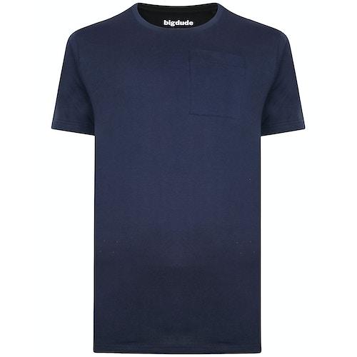 Bigdude T-Shirt mit Brusttasche Marineblau
