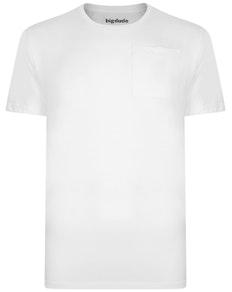 Bigdude T-Shirt mit Brusttasche Weiß
