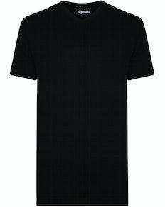 Bigdude T-Shirt V-Ausschnitt Schwarz