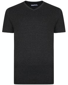Bigdude T-Shirt V-Ausschnitt Grau
