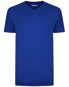 Bigdude Plain V-Neck T-Shirt Royal Blue