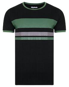 Bigdude Contrast Print T-Shirt Black