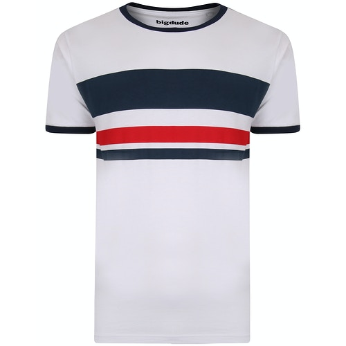 Bigdude Contrast Print T-Shirt White