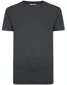 Bigdude Speckled Marl T-Shirt Charcoal Tall