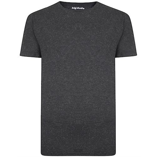 Bigdude T-Shirt Punktemuster Grau