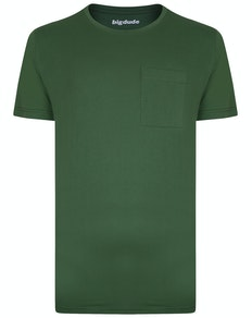 Bigdude T-Shirt mit Brusttasche Grün