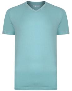 Bigdude T-Shirt V-Ausschnitt Türkis