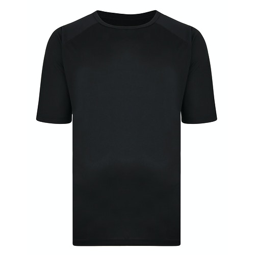 Bigdude Raglan Stretch Performance T-Shirt Black