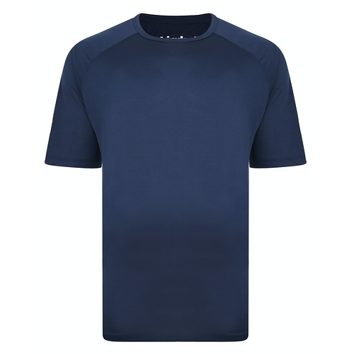 Bigdude Raglan Stretch Performance T-Shirt Marineblau