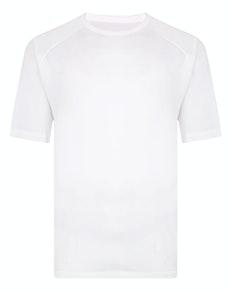 Bigdude Raglan Stretch Performance T-Shirt Weiß