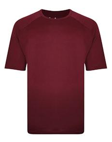 Bigdude Raglan Stretch Performance T-Shirt Weinrot