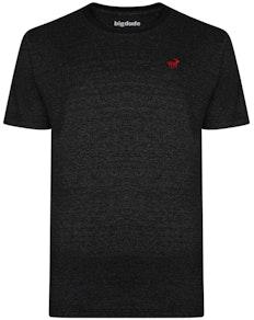 Bigdude Meliertes T-Shirt Schwarz