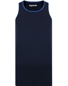 Bigdude Vest With Contrast Binding Navy