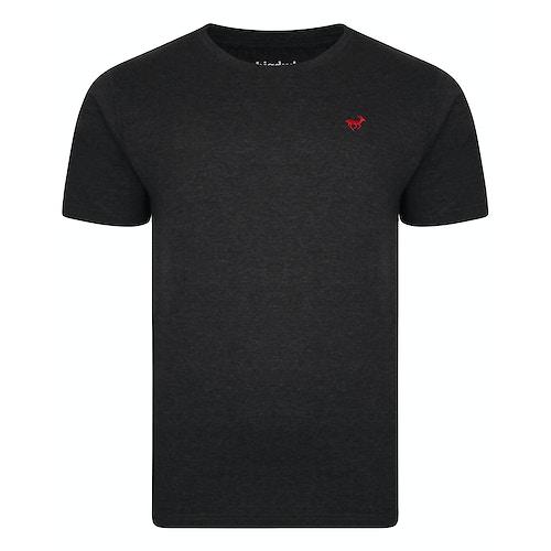 Bigdude T-Shirt mit Rundhalsausschnitt Anthrazit