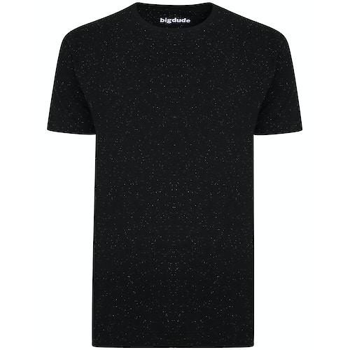 Bigdude Speckled Marl T-Shirt Black Tall