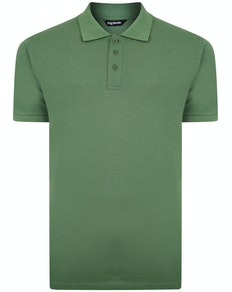 Bigdude Plain Polo Shirt Deep Green