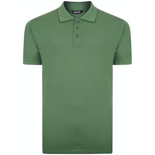 Bigdude Klassisches Poloshirt Grün Tall Fit