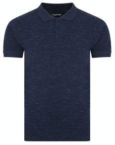 Bigdude Inkjet Marl Polo Shirt Navy Tall