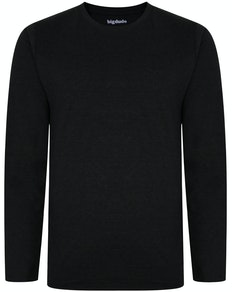 Bigdude Long Sleeve Marl T-Shirt Charcoal