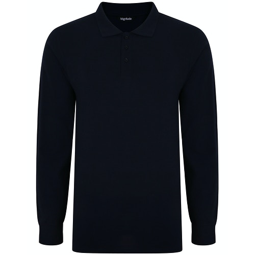 Bigdude Long Sleeve Polo Shirt Navy
