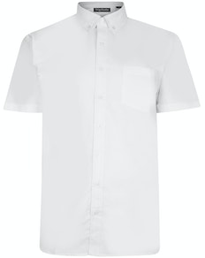 Bigdude Oxford Kurzarmhemd Weiß