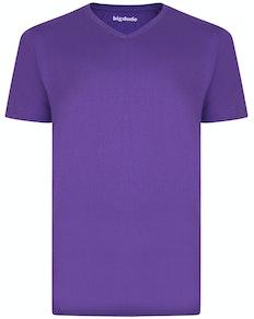 Bigdude T-Shirt V-Ausschnitt Lila