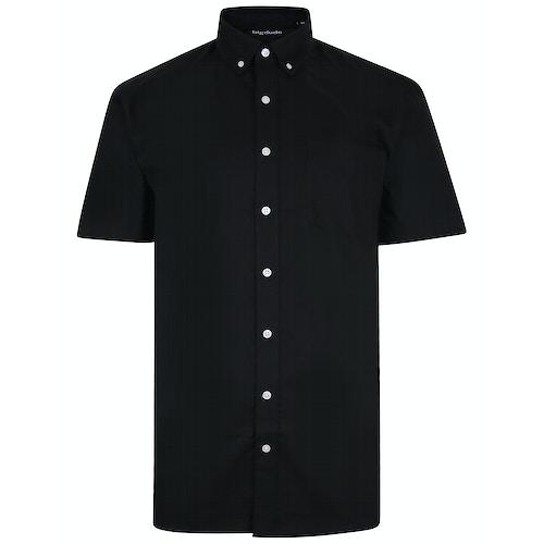 Bigdude Oxford Short Sleeve Shirt Black