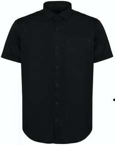 Bigdude Fine Twill Short Sleeve Shirt Black