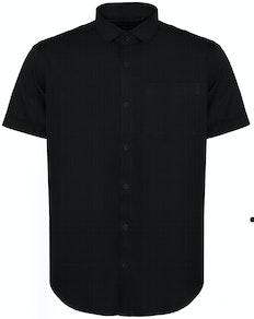 Bigdude Fine Twill Short Sleeve Shirt Black Tall
