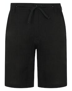 Bigdude Linen Shorts Black