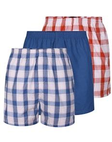 Bigdude Woven Boxer Shorts 3 Pack