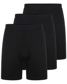 Bigdude 3 Pack Bamboo Boxer Shorts Black