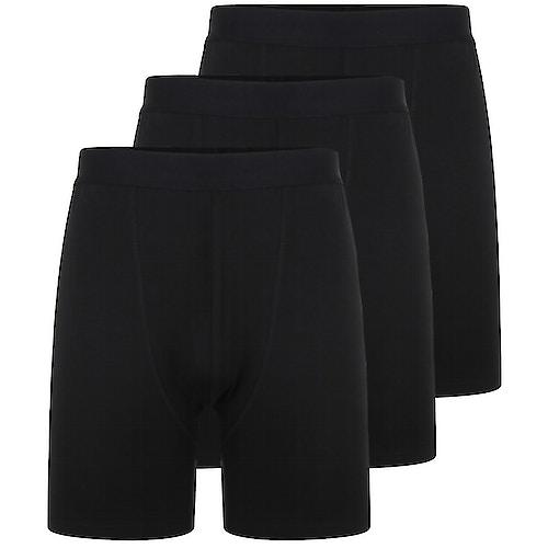 Bigdude 3 Pack Bamboo Boxer Shorts Black