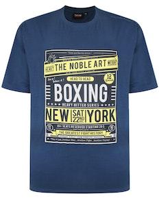 Spionage Boxing Print T-Shirt Denim
