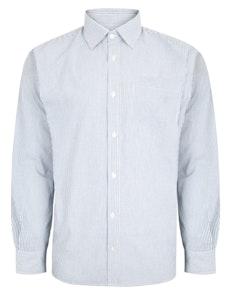 Bigdude Striped Long Sleeve Shirt Blue