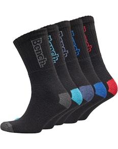 Bench Atlas Five Pack Sport Crew Socks Black/Multi