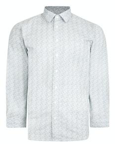 Bigdude Long Sleeve Abstract Patterned Shirt Grey