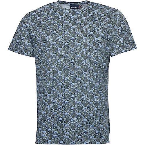 Replika North 56°4 All Over Print T-Shirt Grey
