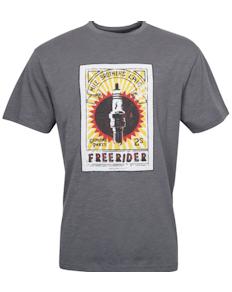Replika bedrucktes T-Shirt Dunkelgrau