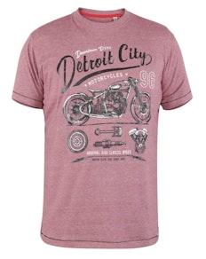 D555 Detroit City Print T-Shirt Rot