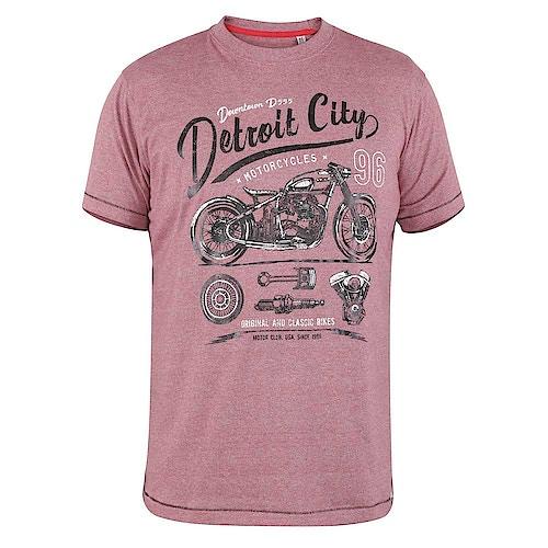 D555 Downton Detroit City Print T-Shirt