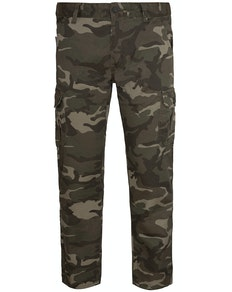 Bigdude Camo Cargo Trousers Green