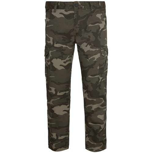 Bigdude Camo Cargo Trousers Green