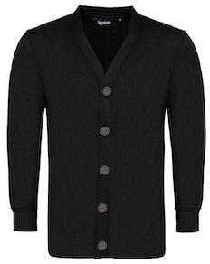 Bigdude Brushed Fleece Cardigan Black